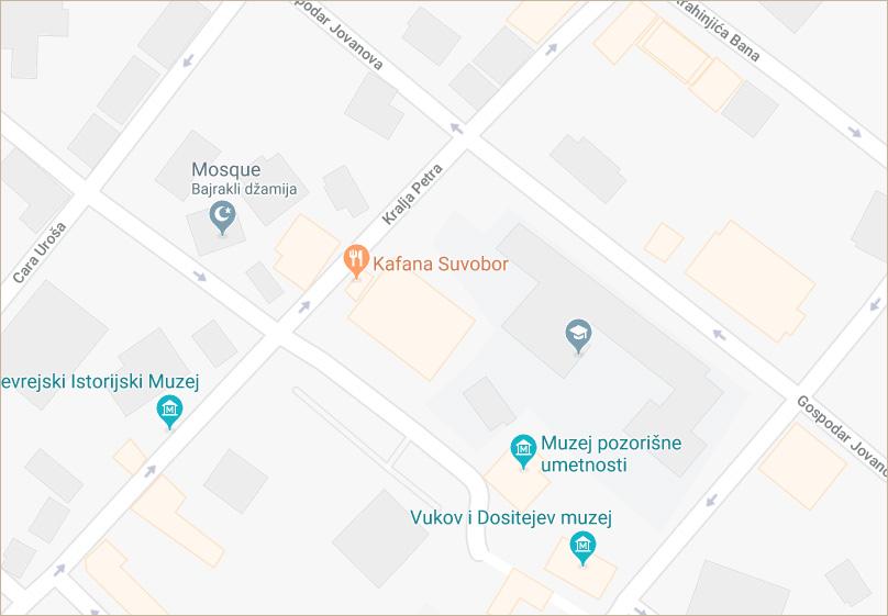Kafana Suvobor - mapa lokacije